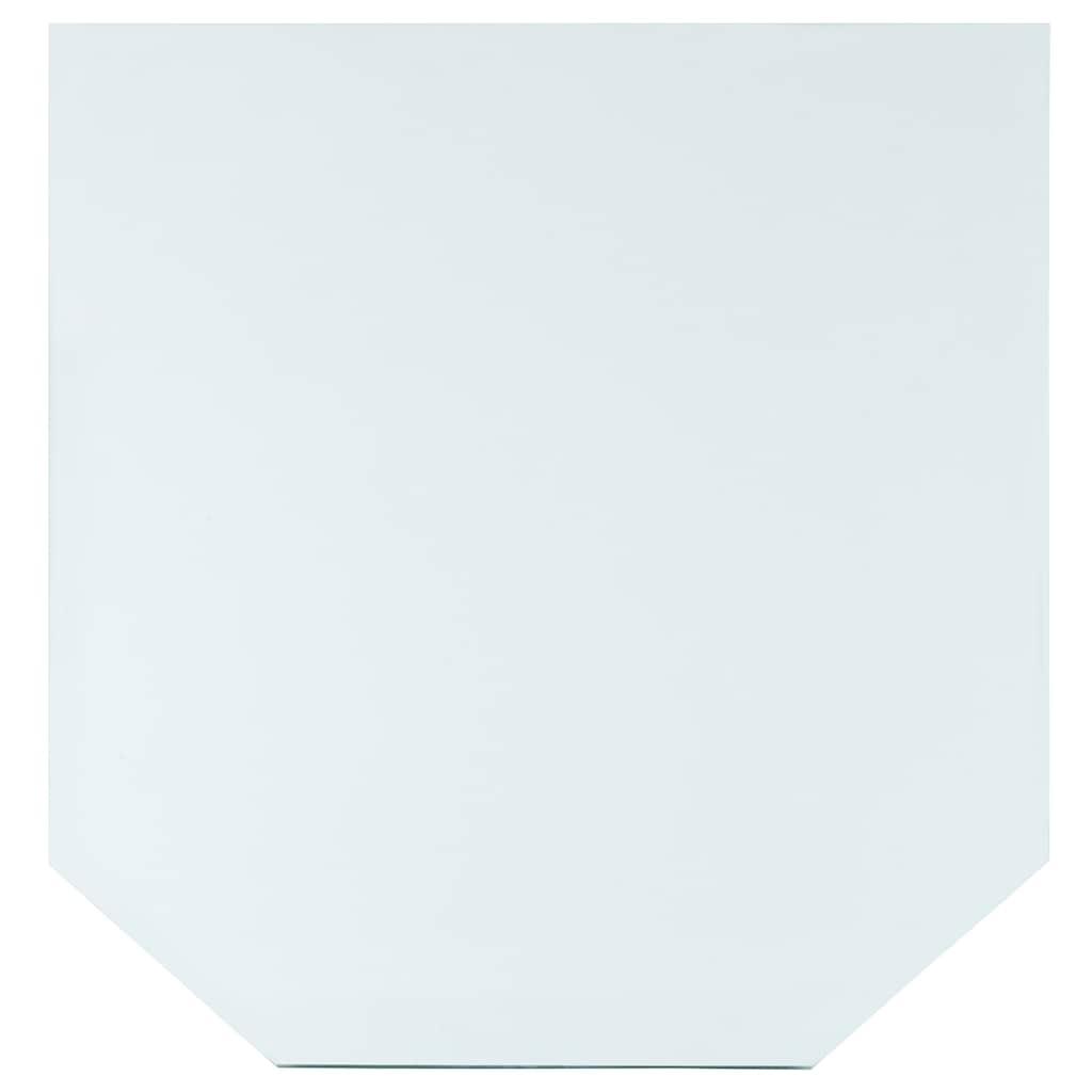 Heathus Bodenschutzplatte, Sechseck, 85 x 100 cm, transparent, zum Funkenschutz