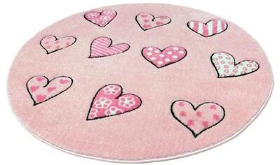 Kinderteppich, »Momo Herz«, Festival, rund, Höhe 13 mm, maschinell gewebt kaufen