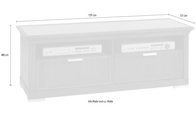 SELVA TV-Board »Luna«, Model 5232, mit schwarzer Glas Abdeckplatte kaufen