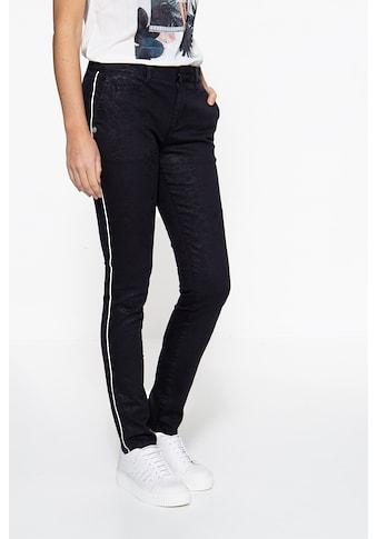 ATT Jeans Chinohose »Valeria«, mit Glanzdruck kaufen
