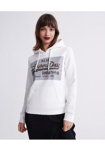 Superdry Kapuzensweatshirt »VL REFLECTIVE BOX EMTRY HOOD«, mit Logo im Animalprint kaufen
