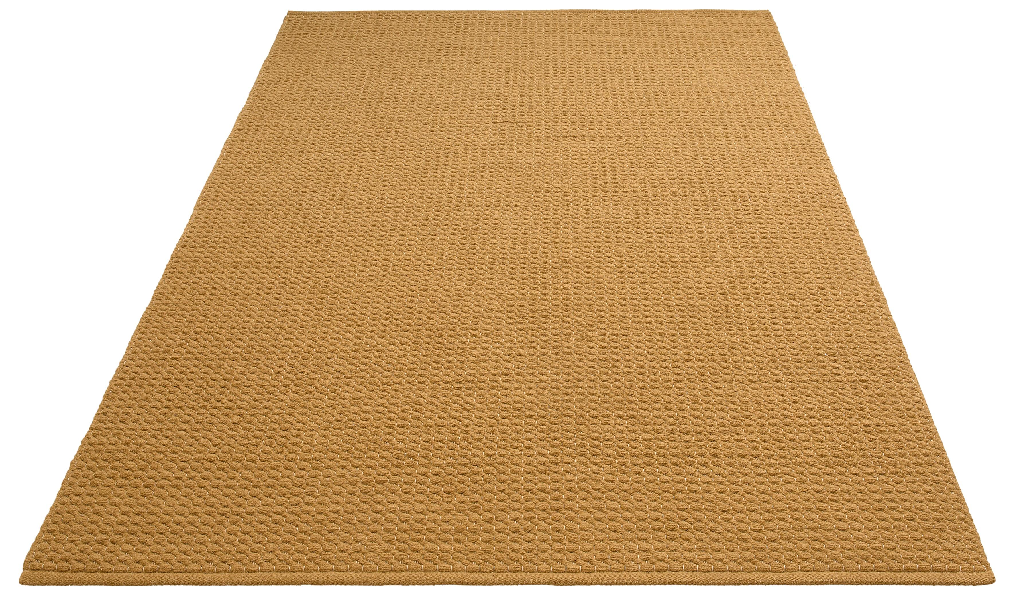 DELAVITA Teppich Sanara, rechteckig, 13 mm Höhe, Strickoptik, Wohnzimmer gelb Esszimmerteppiche Teppiche nach Räumen