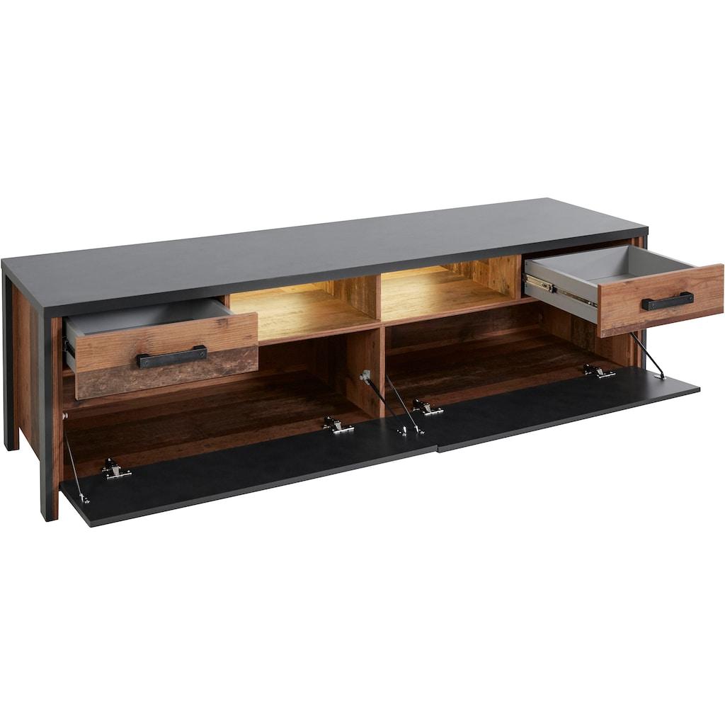 TRENDMANUFAKTUR Lowboard »Buffalo«, Breite 187 cm