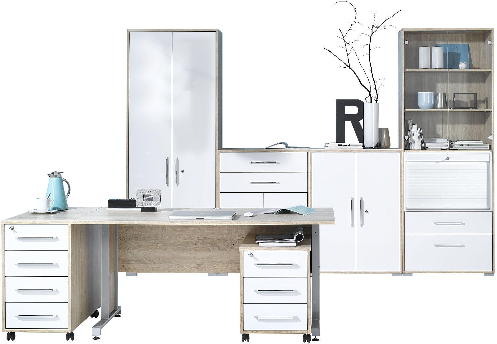 Maja Möbel Büromöbel-Set (6-tlg.) »1202« | Büro > Büromöbel-Serien | Hochglanz - Glänzend - Kunststoff - Abs | MAJA MÖBEL