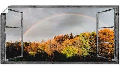 Artland Wandbild »Fensterblick  -  Regenbogen« kaufen