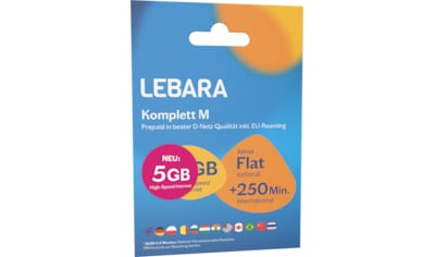 Lebara Prepaid Karte »Komplett M Tarif - Paket« kaufen