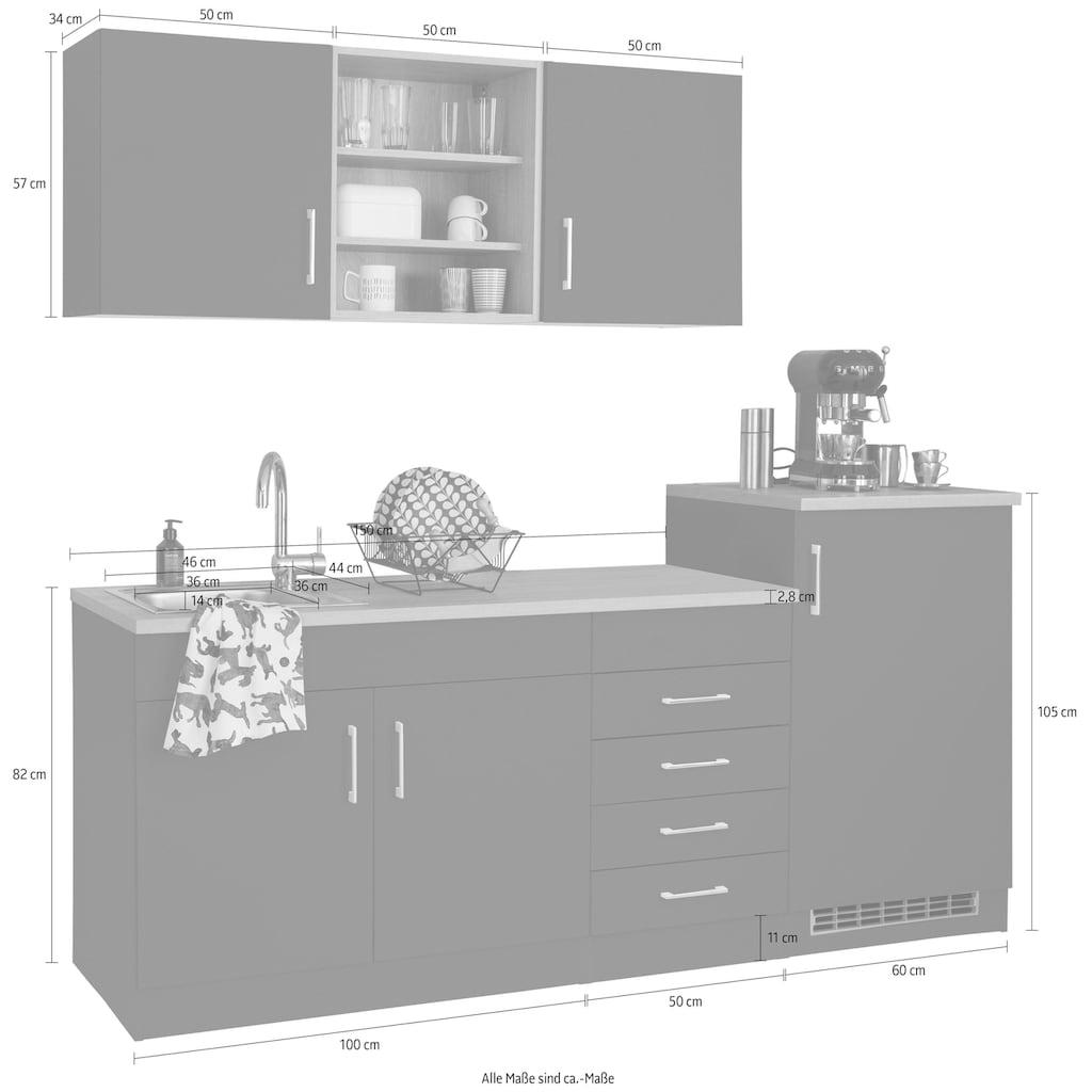 HELD MÖBEL Küchenzeile »Mali«, mit E-Geräten, Breite 210 cm