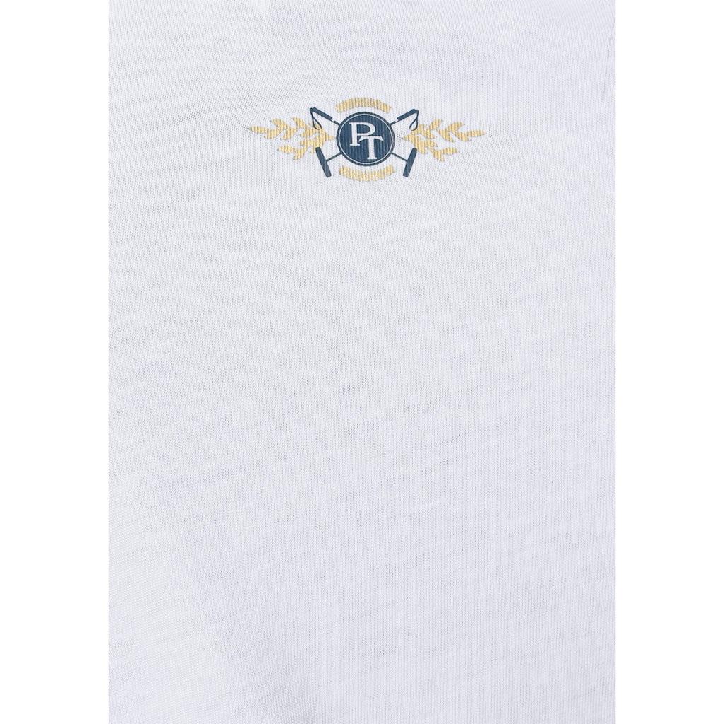 TOM TAILOR Polo Team T-Shirt, mit niedlichem All-Over Print