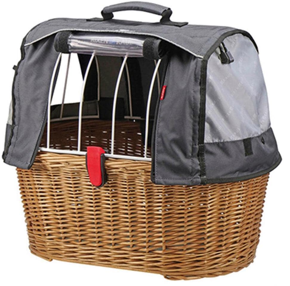 KlickFix Fahrradkorb Weidenkorb Doggy Basket Plus, braun