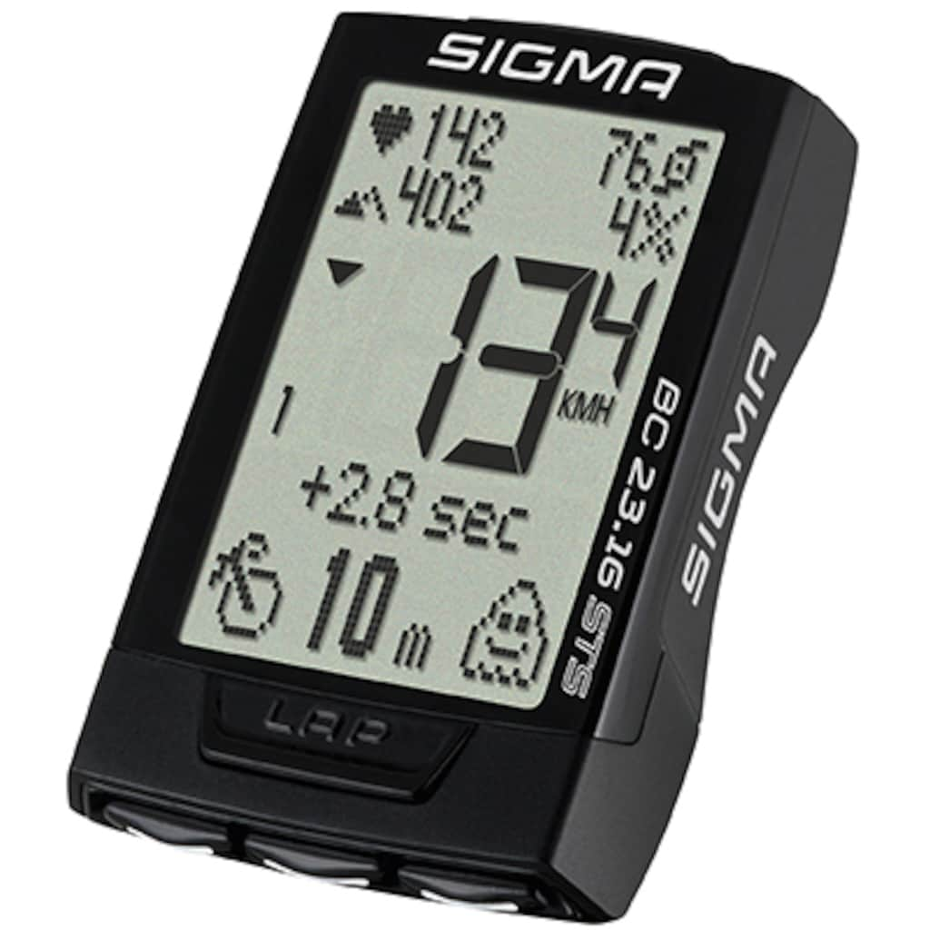 SIGMA SPORT Fahrradcomputer »BC 23.16 STS SET«, kabellos