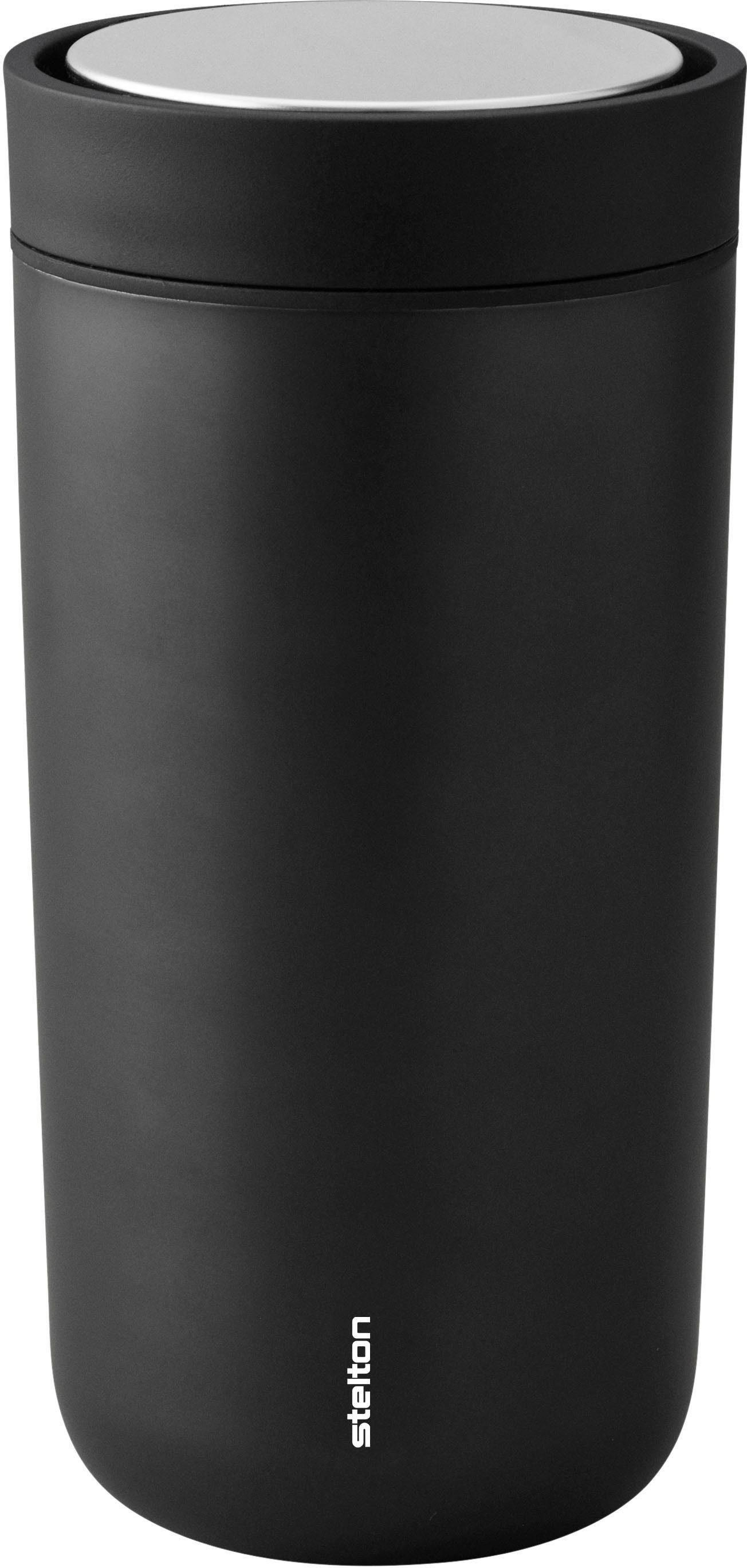 Stelton Thermobecher To Go Click, 400 ml schwarz und Coffee to go Geschirr, Porzellan Tischaccessoires Haushaltswaren