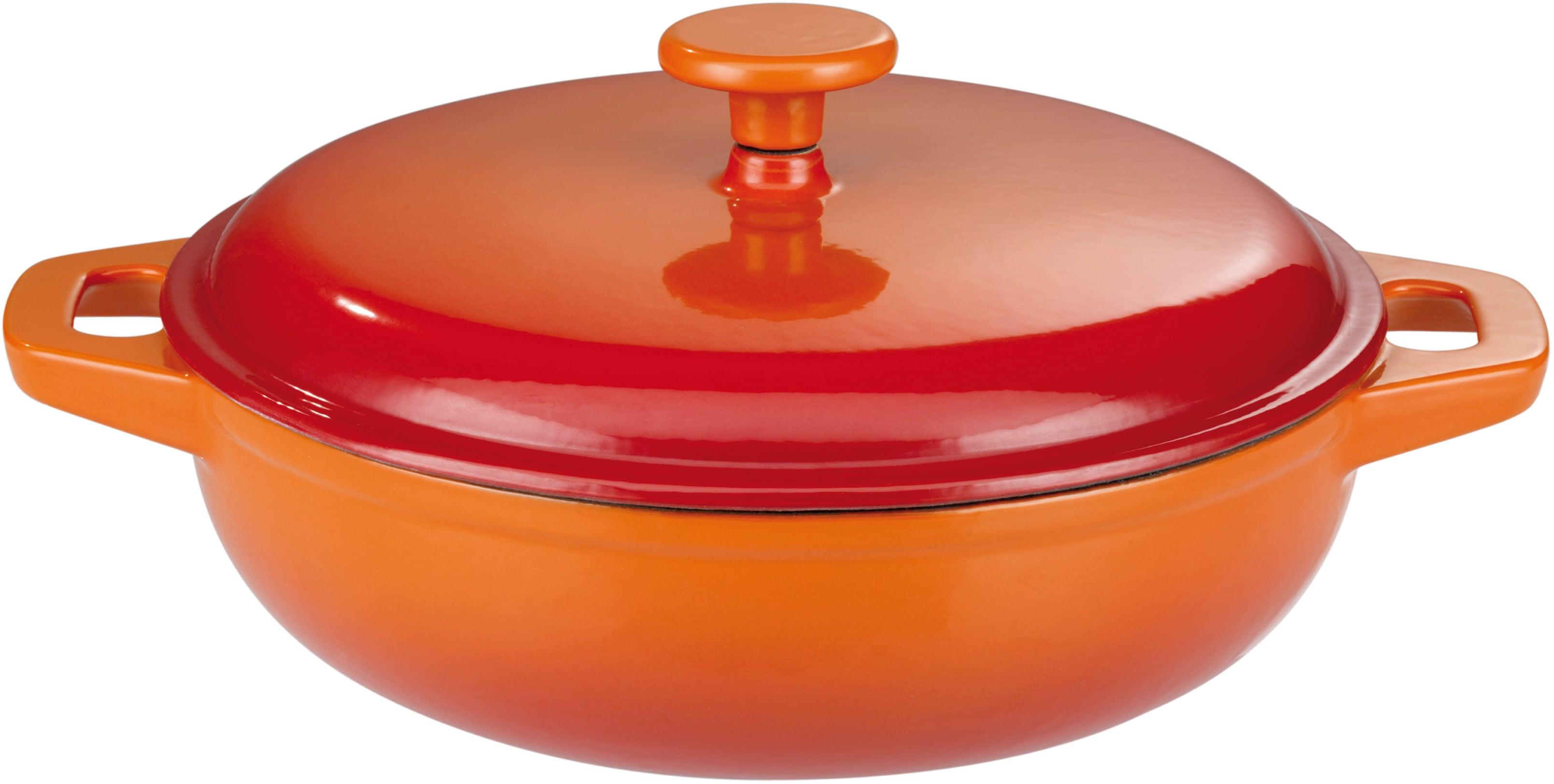 GSW Schmortopf Orange Shadow, Gusseisen, (1 tlg.), Induktion orange Schmortöpfe Töpfe Haushaltswaren