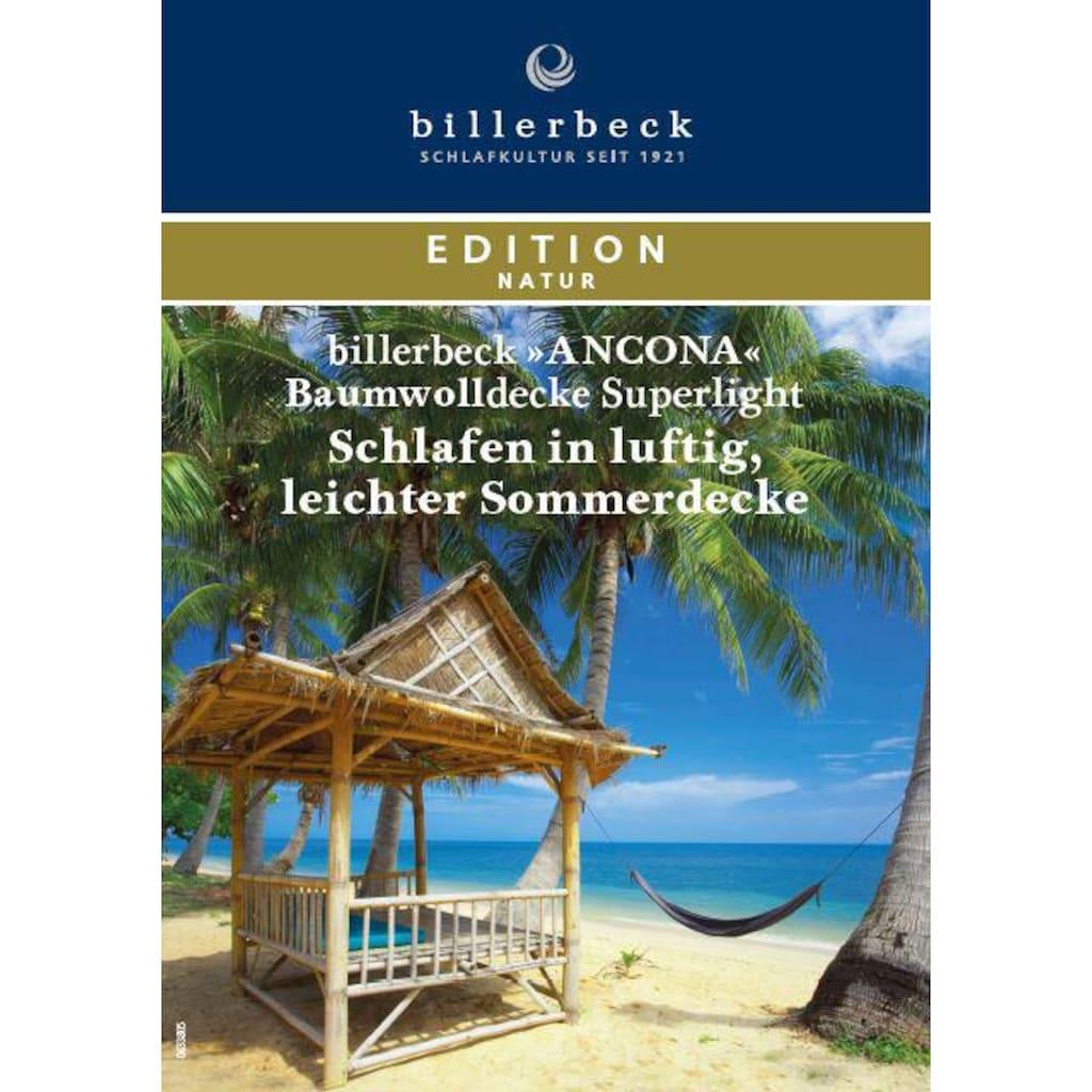 billerbeck Baumwollbettdecke »Ancona Superlight«, leicht, Bezug 100% Baumwolle, (1 St.)