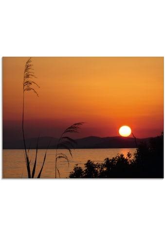 Artland Glasbild »Sonnenuntergang«, Sonnenaufgang & -untergang, (1 St.) kaufen