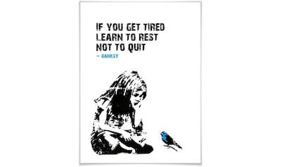 Wall-Art Poster »Graffiti Bilder If you get tired«, Schriftzug, (1 St.), Poster,... kaufen