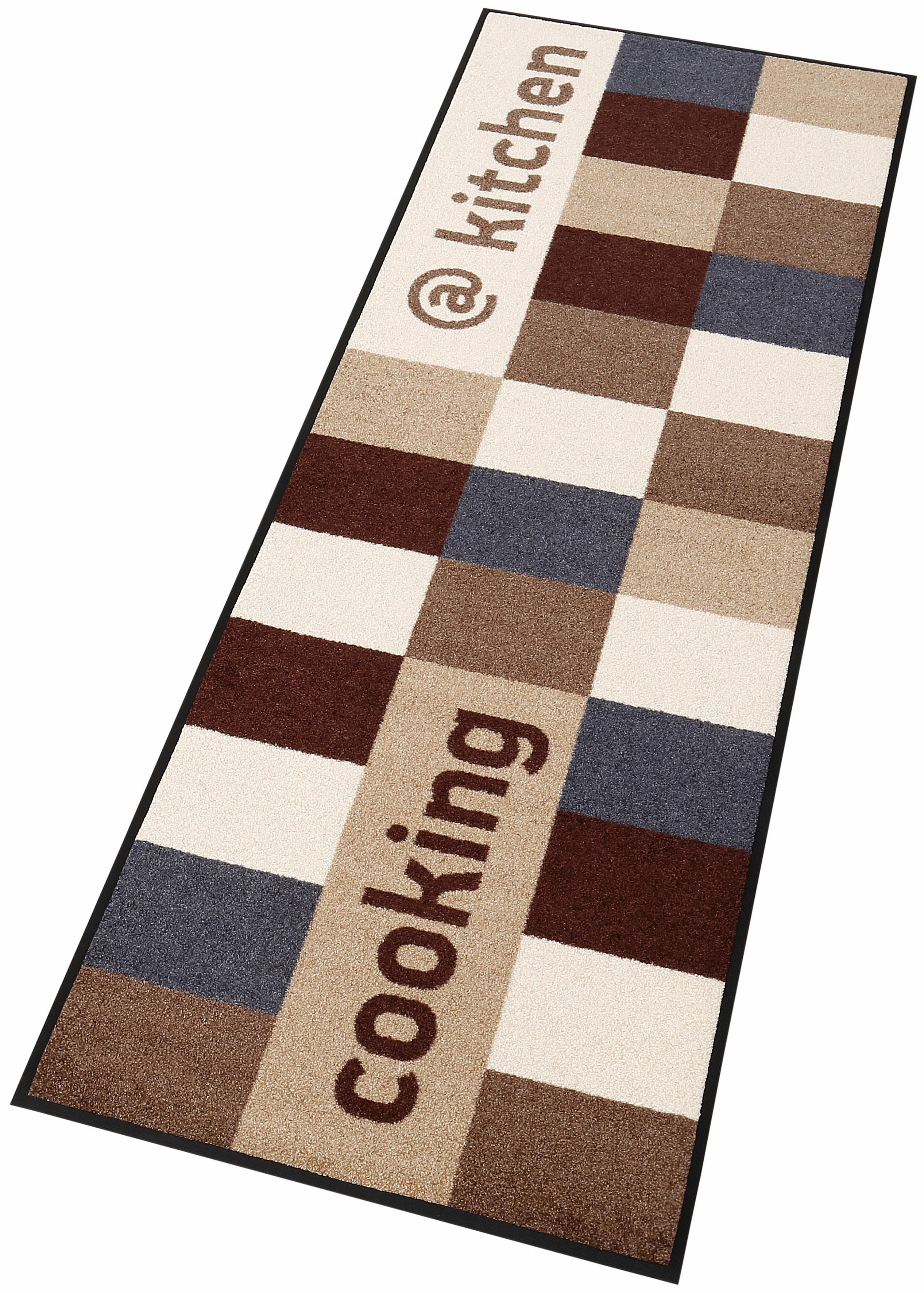 Läufer @kitchen brownish wash+dry by Kleen-Tex rechteckig Höhe 7 mm gedruckt