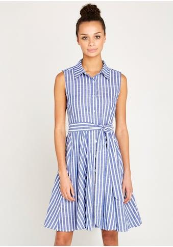 Apricot Sommerkleid »Pinstripe Button Tie Waist Dress«, (mit Bindegürtel), mit Streifen kaufen