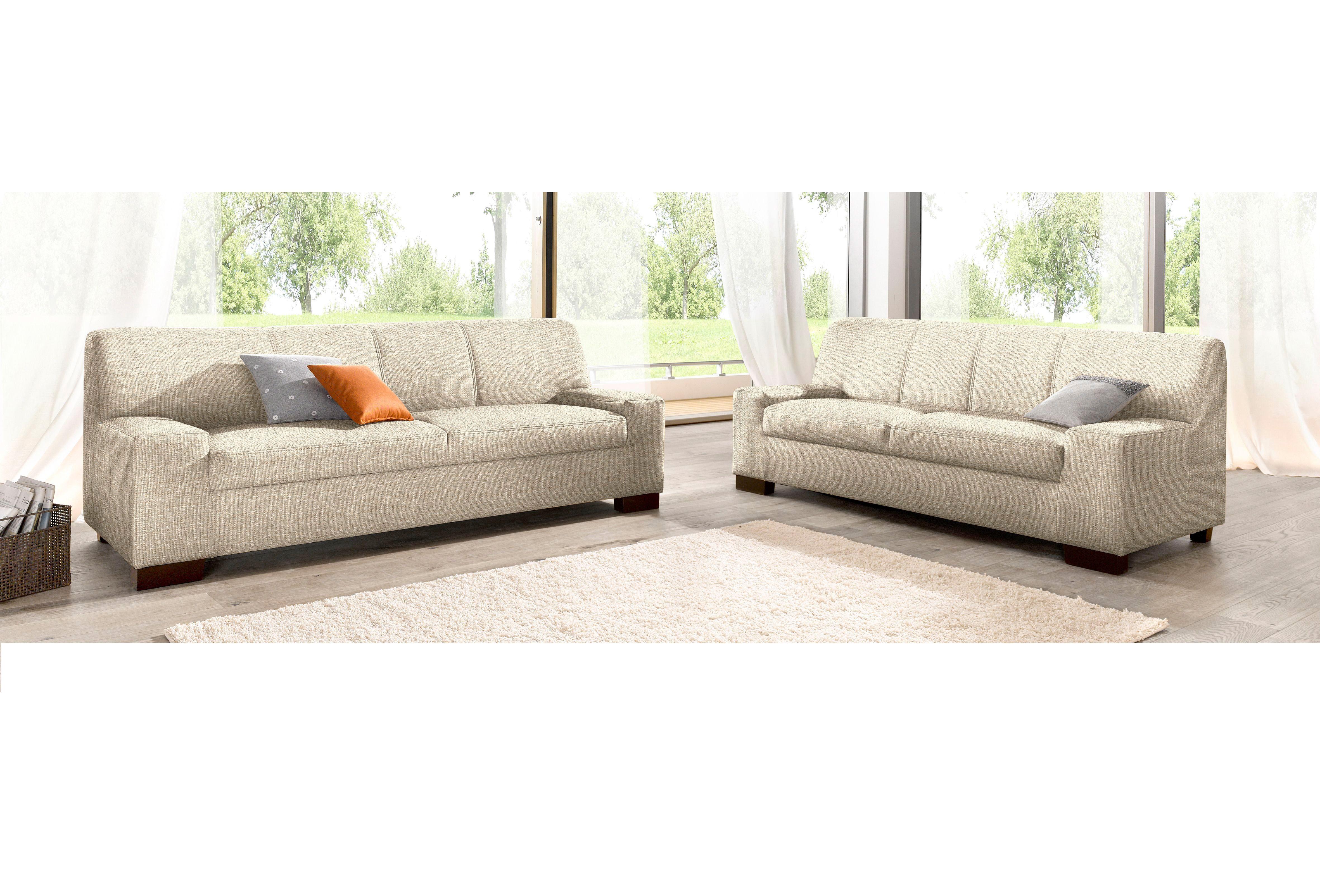 DOMO Collection Set: 2-Sitzer und 3-Sitzer (2-tlg.) | Wohnzimmer > Sofas & Couches > Garnituren | Microfaser - Strukturstoff - Kunstleder | DOMO COLLECTION