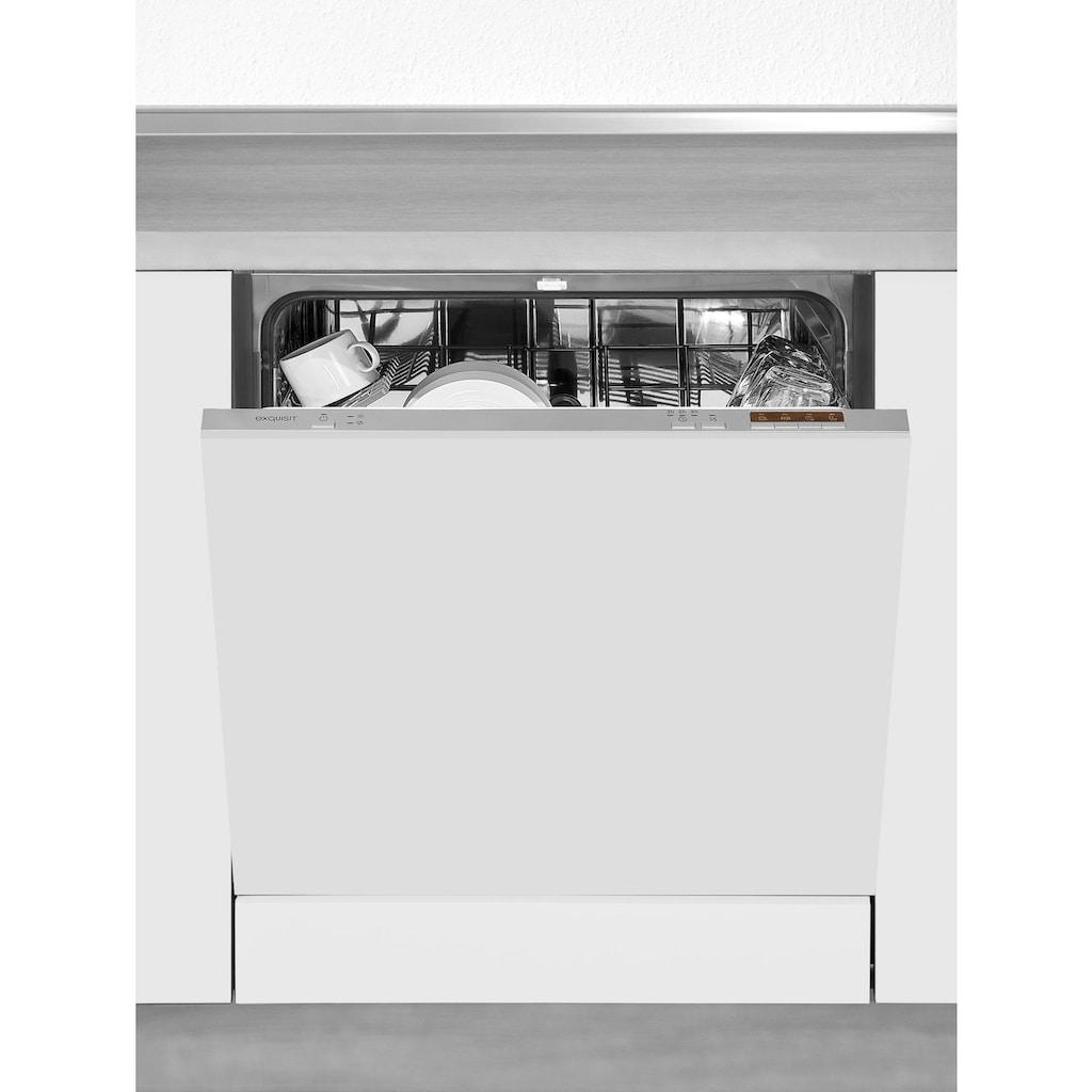 OPTIFIT Winkelküche »Bern«, mit E-Geräten, Stellbreite 285 x 175 cm, mit höhenverstellbaren Füßen, gedämpfte Türen und Schubkästen, Metallgriffe