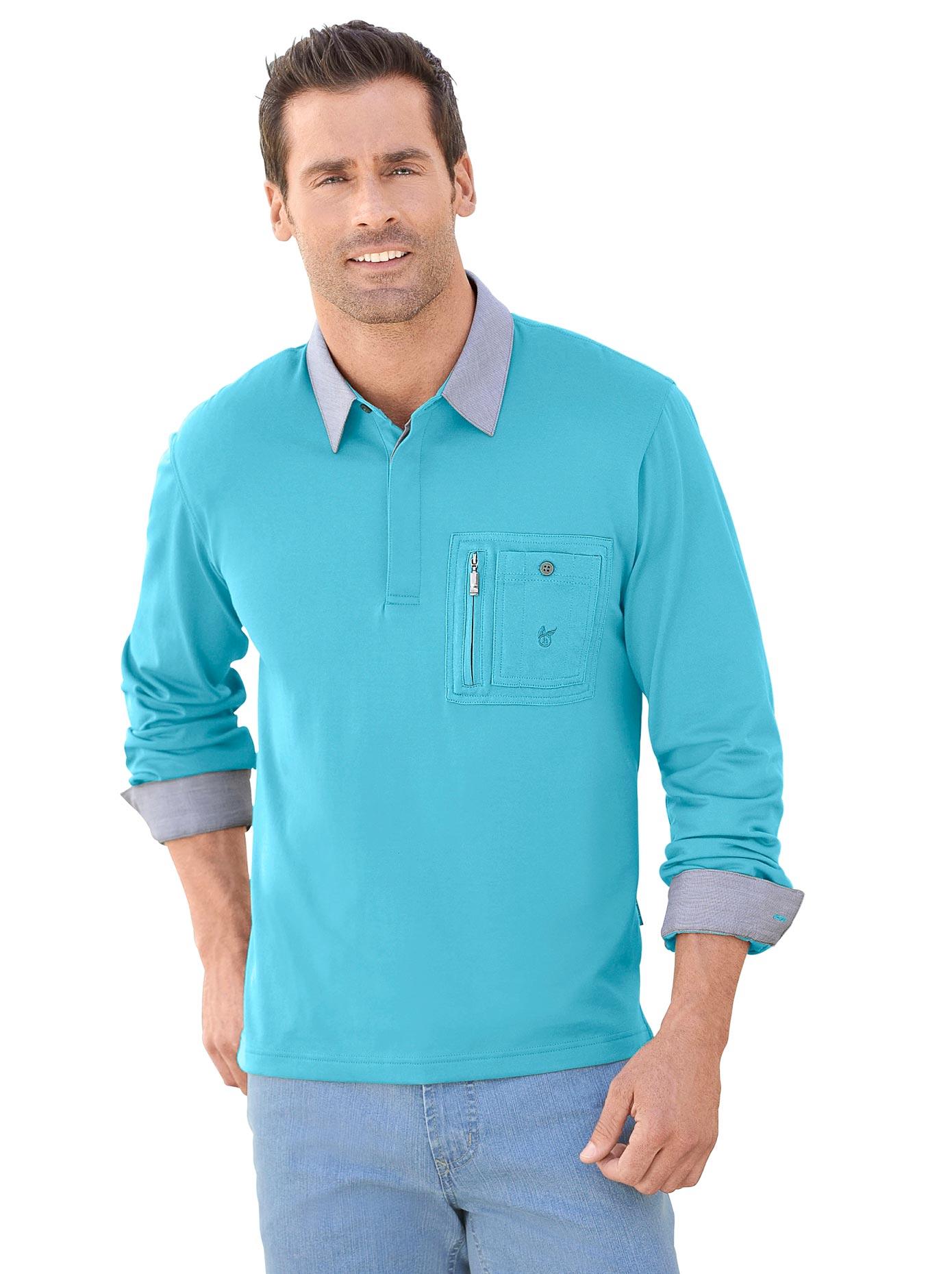 Hajo Langarm-Shirt in innovativer stay-fresh-Qualität   Bekleidung > Shirts > Langarm Shirts   Blau   Polyester   Hajo