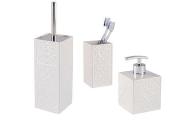 WENKO Badaccessoires-Sets »Cordoba«, Zahnputzbecher, Seifenspender & WC-Garnitur kaufen