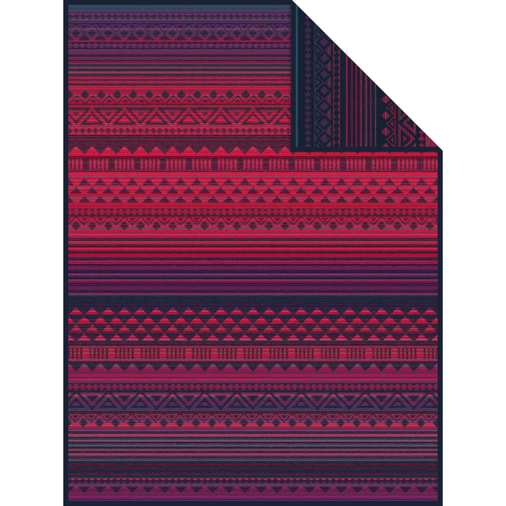 IBENA Wohndecke »Jacquard Decke Karawang«, mit Ethnomuster