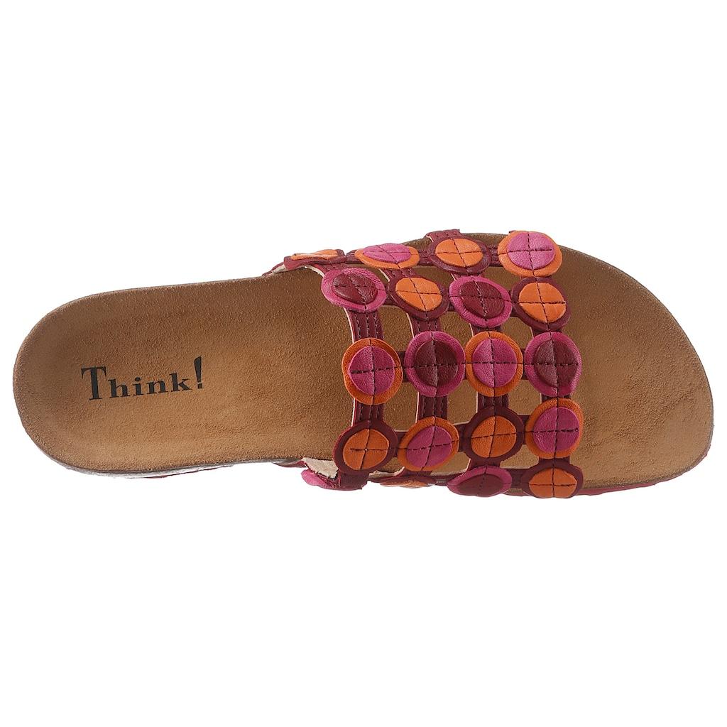 Think! Pantolette »Julia«, im coolen Retro-Design