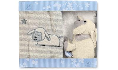 Sterntaler® Spieluhr »Geschenk-Set Stanley II«, mit Waschhandschuh und Kinderhandtuch kaufen
