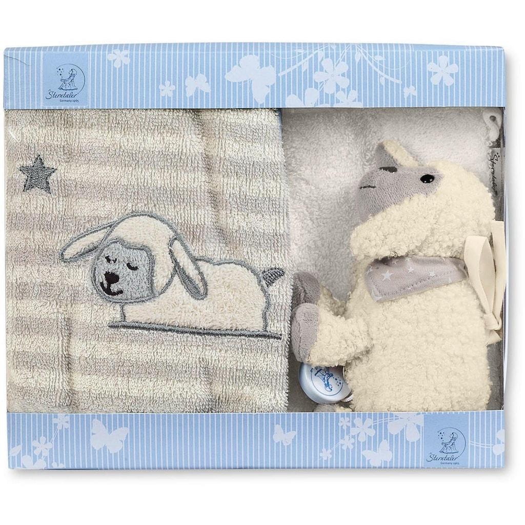 Sterntaler® Spieluhr »Geschenk-Set Stanley II«, mit Waschhandschuh und Kinderhandtuch