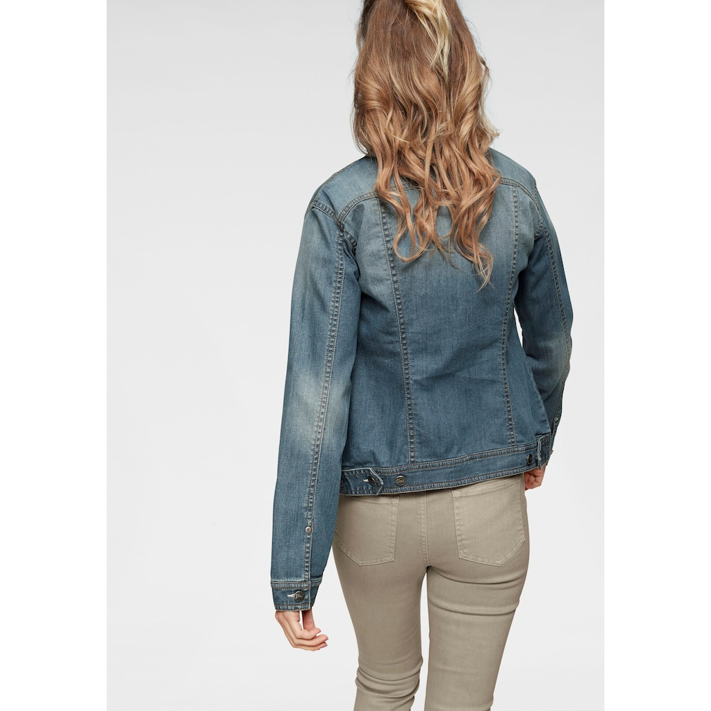 Aniston CASUAL Jeansjacke, in Used-Waschung