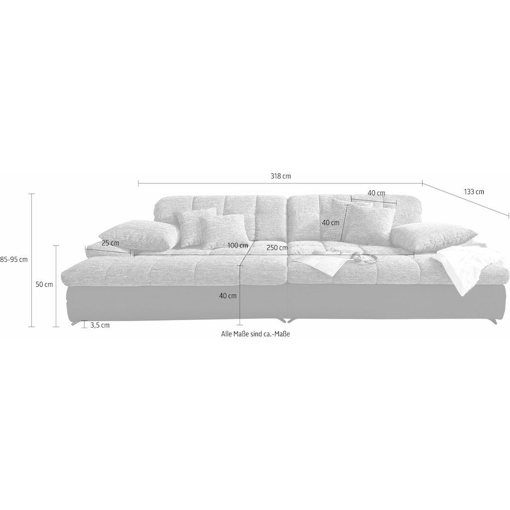 Nova Via Big-Sofa, wahlweise mit Kaltschaum (140kg Belastung/Sitz) und Kopfteilverstellung