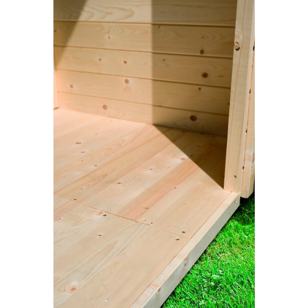 KARIBU Fußboden für Gartenhäuser Sockelmaß 490x400 cm