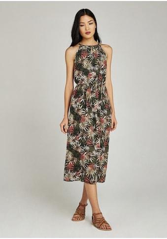 Apricot Chiffonkleid »Tropical Palm Tie Neck Midi Dress« kaufen