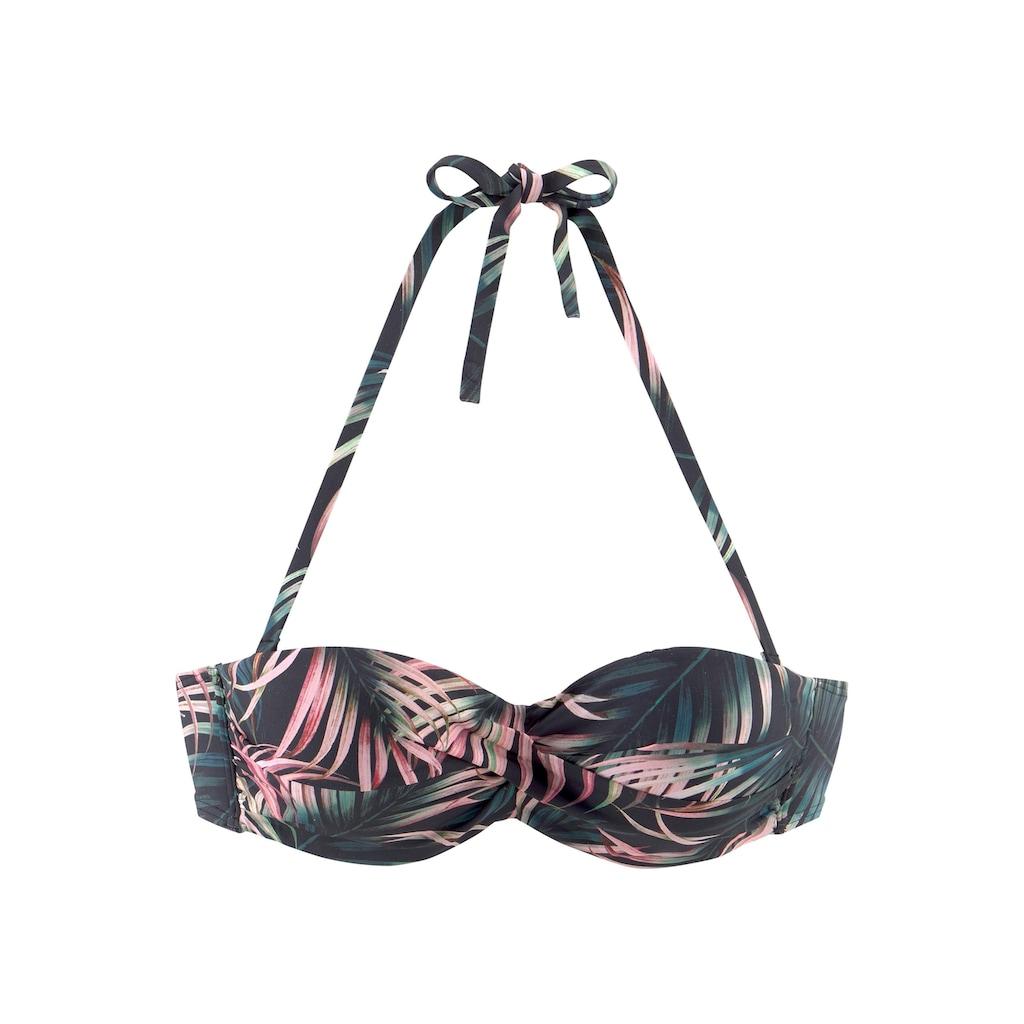 LASCANA Bügel-Bandeau-Bikini-Top »Reese«, im Palmendesign