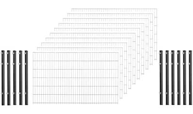 ARVOTEC Set: Doppelstabmattenzaun 103 cm hoch, 10 Matten für 20 m, 11 Pfosten kaufen