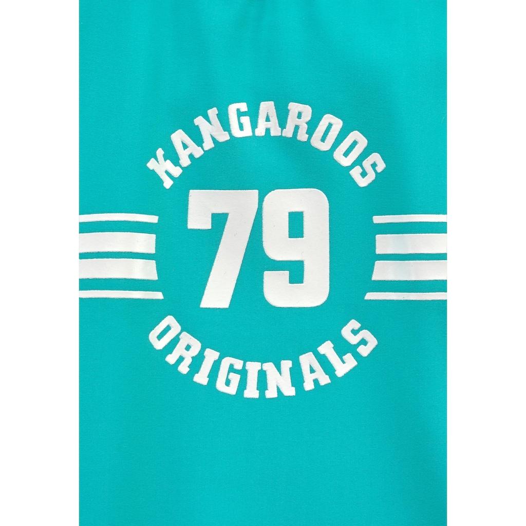 KangaROOS Badeanzug »Sporty«, mit sportlichem Frontdruck