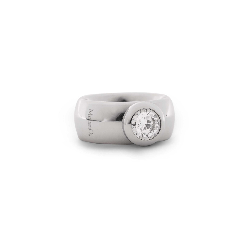 melano Edelstahl-Ring mit Wechselstein