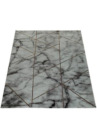 Paco Home Teppich »Kraft 524«, rechteckig, 17 mm Höhe, Kurzflor mit Marmor-Design, Wohnzimmer kaufen