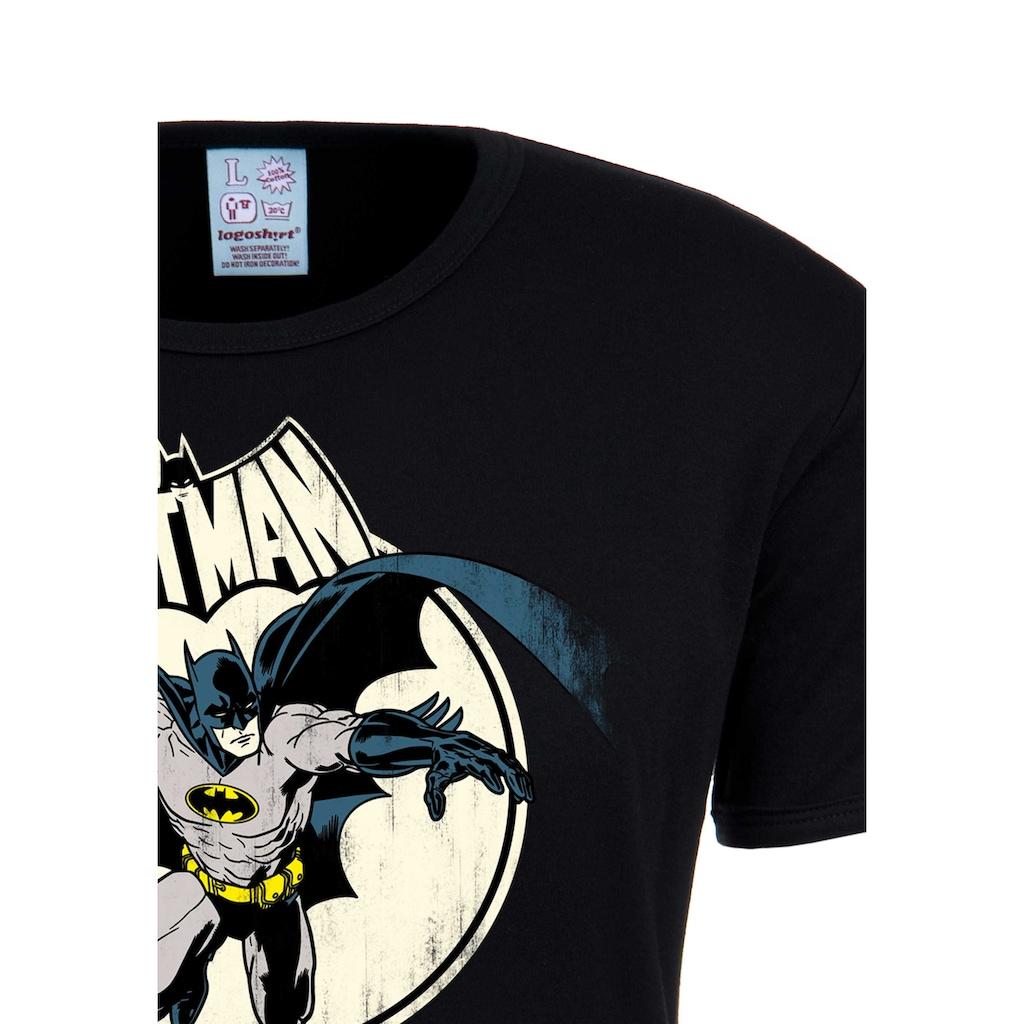 LOGOSHIRT T-Shirt »Batman«, mit Vintage-Print