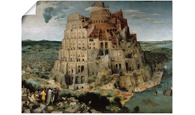 Artland Wandbild »Der Turmbau von Babel. 1563«, Gebäude, (1 St.), in vielen Größen &... kaufen