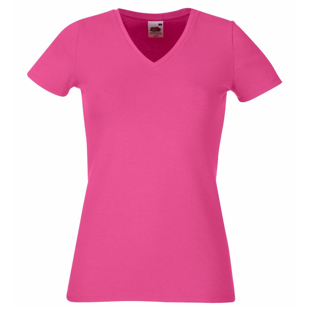Fruit of the Loom V-Shirt »Lady-Fit Damen T-Shirt, V-Ausschnitt«