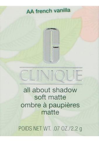 CLINIQUE Lidschatten »All About Shadow Soft Matte« kaufen