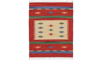 carpetfine Teppich »Kelim Shiva«, rechteckig, 5 mm Höhe, Flachgewebe, Wendeteppich,... kaufen