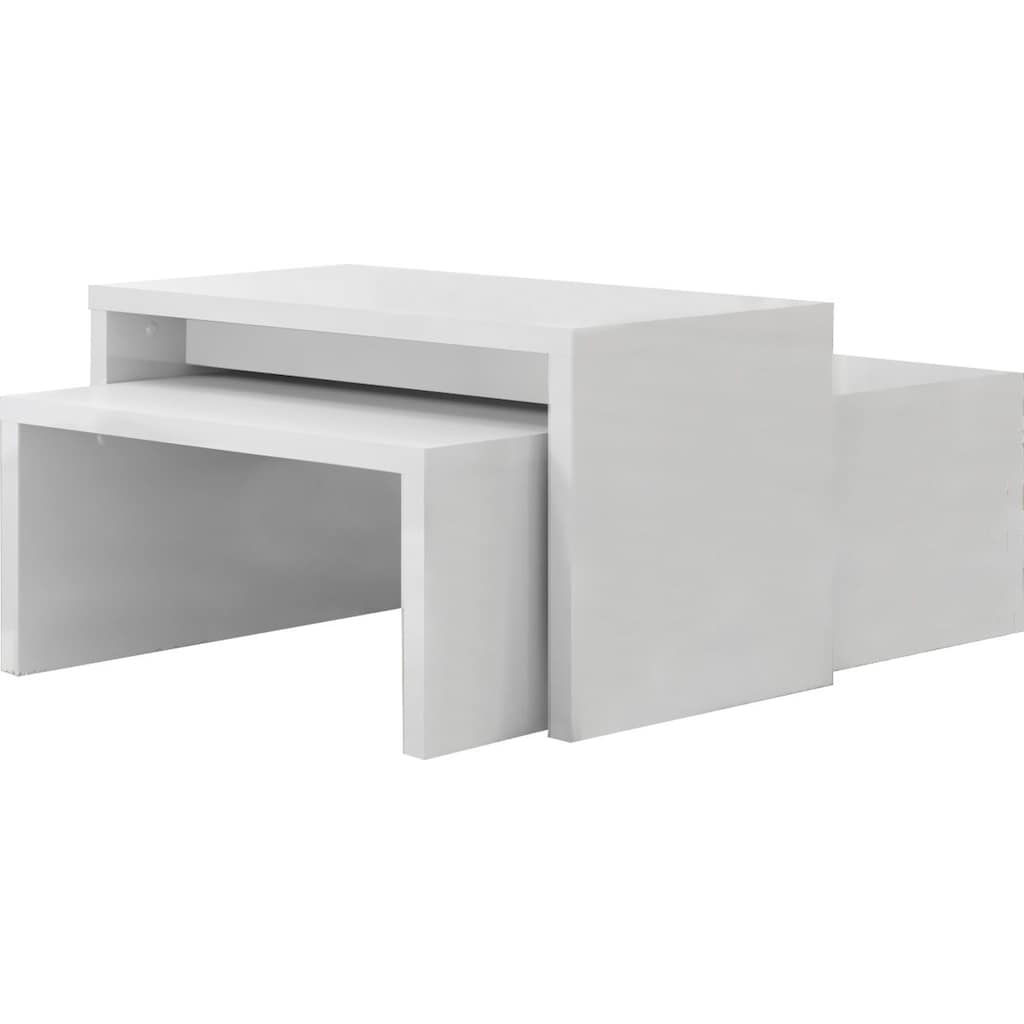 Places of Style Couchtisch »Piano«, UV lackiert, 2-er Set