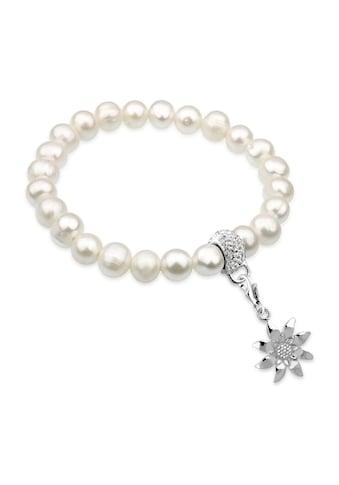 Nenalina Perlenarmband »Edelweiß Perlen Swarovski® Kristalle 925 Silber« kaufen