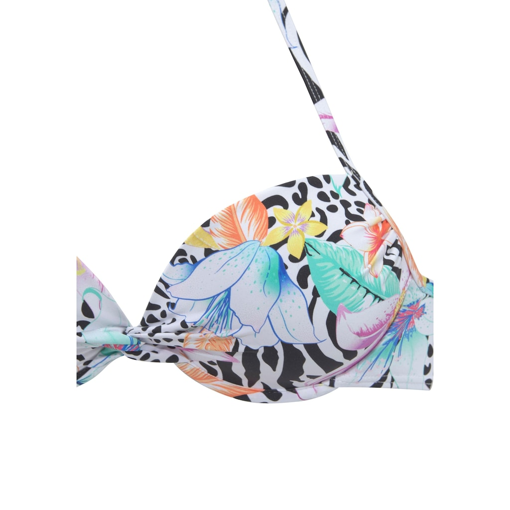 LASCANA Push-Up-Bikini, mit trendigem Animalprint