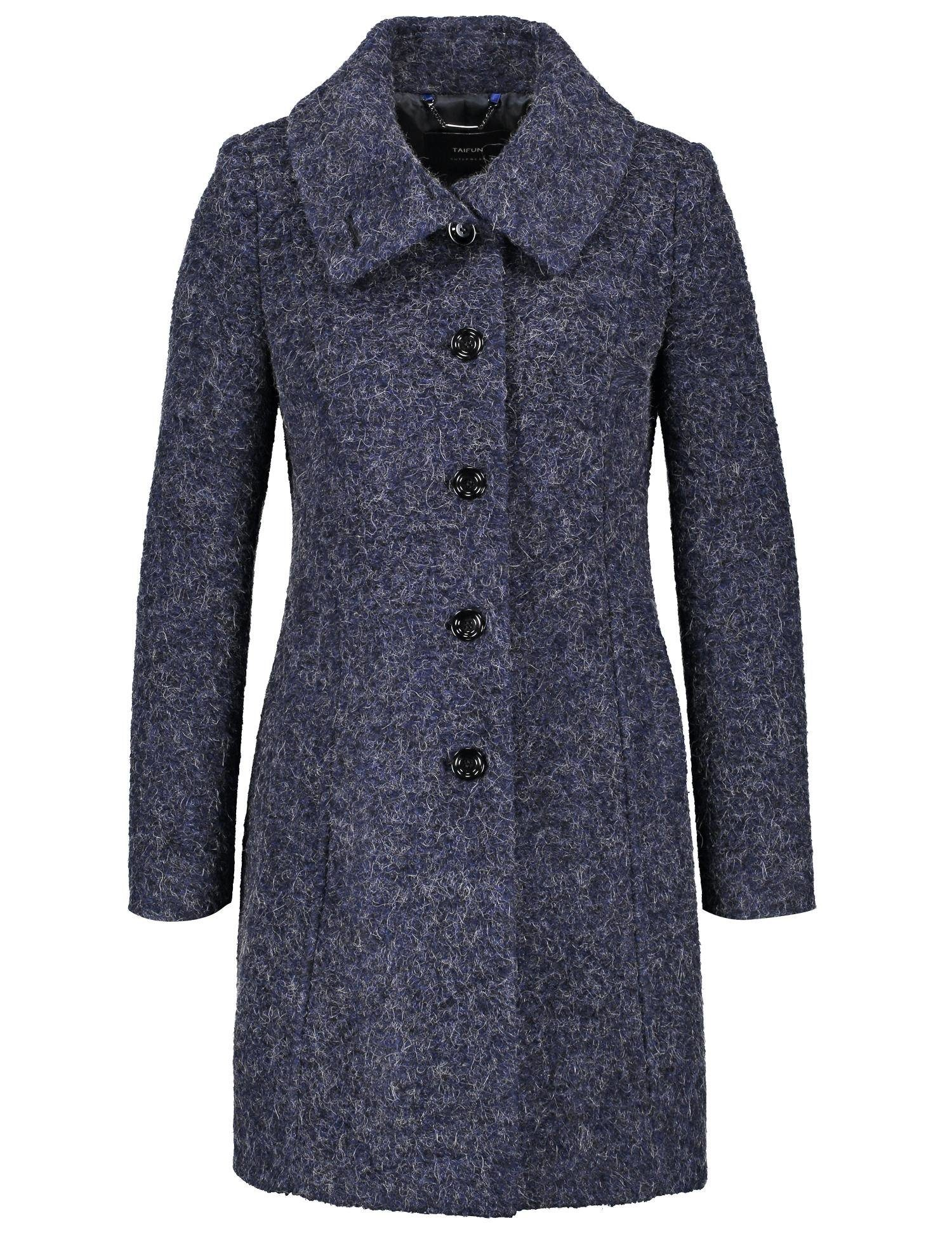 TAIFUN Outdoorjacke Wolle Taillierter Kurzmantel aus Tweed | Sportbekleidung > Sportmäntel > Outdoormäntel | Blau | Wolle - Tweed - Polyester | Taifun