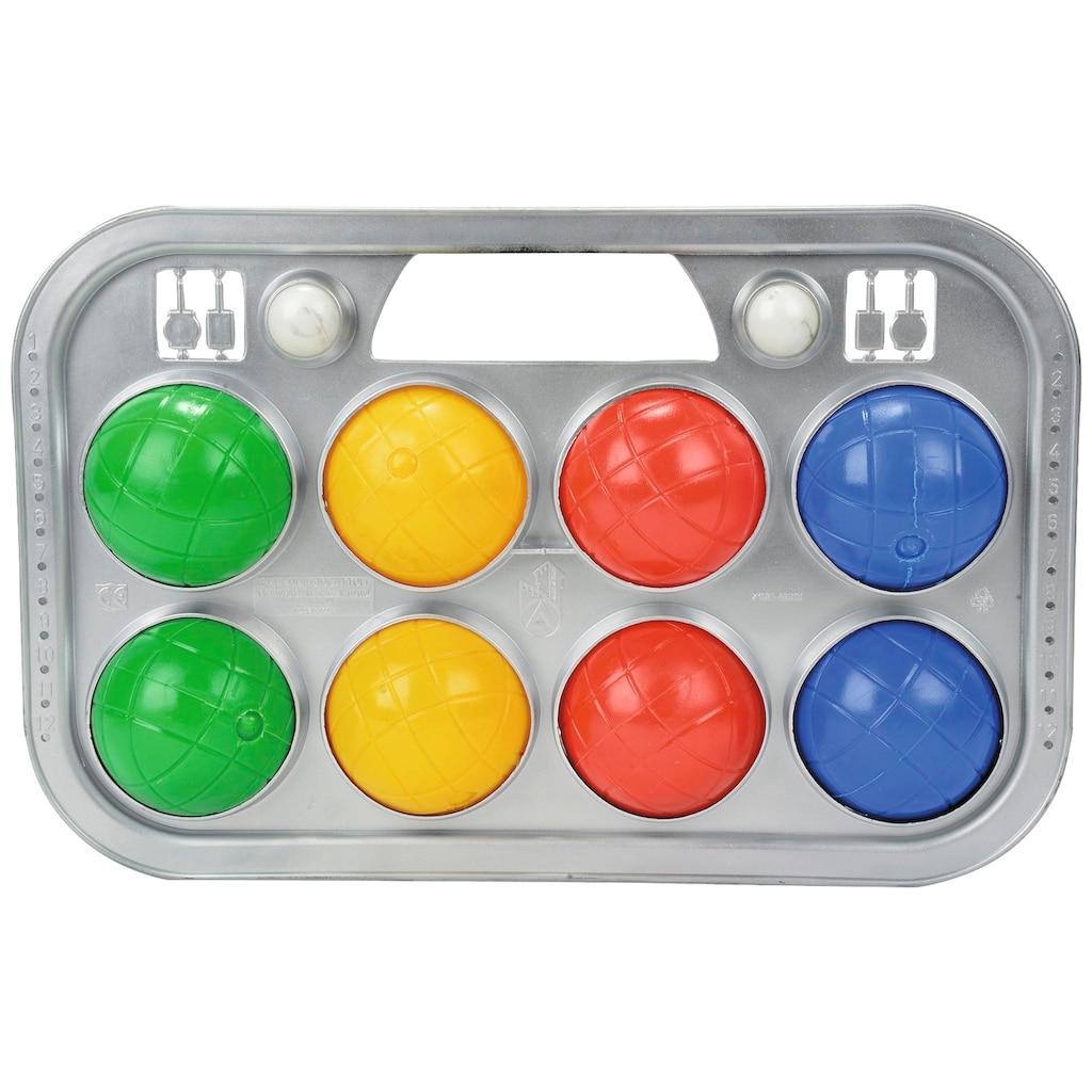 SIMBA Spielzeug-Gartenset, Boccia Spiel mit Tragekorb