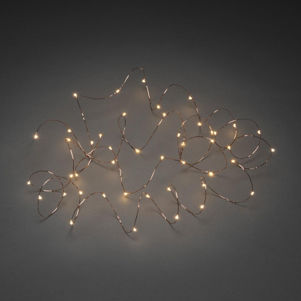 KONSTSMIDE LED Dekolicht, Warmweiß, Tropfenlichterkette
