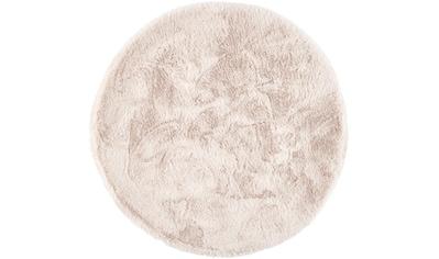 Dekowe Hochflor-Teppich »Roger Deluxe«, rund, 33 mm Höhe, Kunstfell, Kaninchenfell-Haptik, Wohnzimmer kaufen